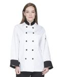 Alpha Broder DC46 Unisex Classic 10 Button Chef Coat