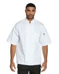 Alpha Broder DC48 Unisex Classic Knot Button Short Sleeve Chef Coat