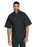 Alpha Broder DC49 Unisex Classic 10 Button Short Sleeve Chef Coat