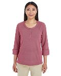Alpha Broder DG230W Ladie's Central Cotton Blend Melange Knit Top