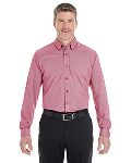 Alpha Broder DG230 Men's Central Cotton Blend Melange Button Down