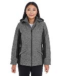 Alpha Broder DG710W Ladie's Midtown Insulated Fabric-Block Jacket With Crosshatch Melange
