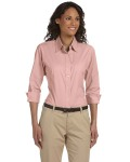 Alpha Broder DP625W Ladies' Three-Quarter-Sleeve Stretch Poplin Blouse