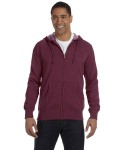 Broder Bros. EC5680 7 oz. Unisex Organic/Recycled Heathered Full-Zip Hood