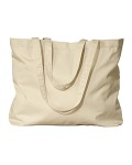 Alpha Broder EC8001 8 Oz. Organic Cotton Large Twill Tote