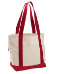 Alpha Broder EC8035 12 Oz. Organic Cotton Canvas Boat Tote Bag