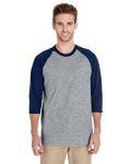 Alpha Broder G570 Adult 5.3 Oz. 3/4-Raglan Sleeve T-Shirt