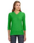 Alpha Broder JA8153 Ladie's 3/4-Sleeve Hooded Slub T-Shirt