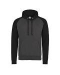 Alpha Broder JHA009 Adult 80/20 Midweight Contrast Baseball Hooded Sweatshirt