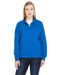 Alpha Broder LSF95R Ladie's 7.2 Oz. Sofspun® Quarter-Zip Sweatshirt