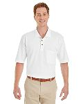 Alpha Broder M200P Adult 6 Oz. Ringspun Cotton Pique Short-Sleeve Pocket Polo
