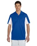 Alpha Broder M355 Men's Side Blocked Micro-Pique Polo