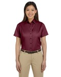 Alpha Broder M500SW Ladie's Easy Blend™ Short-Sleeve Twill Shirt With stain-Release