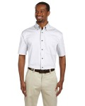 Alpha Broder M500S Men's Easy Blend™ Short-Sleeve Twill Shirt With stain-Release