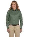 Alpha Broder M500W Ladie's Easy Blend™ Long-Sleeve Twill shirt With Stain-Release