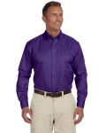 Alpha Broder M500 Men's Easy Blend™ Long-Sleeve Twill shirt With stain-Release