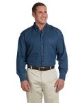 Alpha Broder M550T Men's Tall 6.5 Oz. Long-Sleeve Denim Shirt