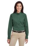 Alpha Broder M581W Ladie's Foundation 100% Cotton Long-Sleeve Twill Shirt With teflon™
