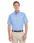 Alpha Broder M582 Men's Foundation 100% Cotton Short-Sleeve Twill Shirt With Teflon™