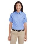 Alpha Broder M600SW Ladie's Short-Sleeve Oxford With Stain-Release