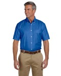 Alpha Broder M600S Men's Short-Sleeve Oxford With Stain-Release