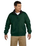 Alpha Broder M740 Adult Fleece-Lined Nylon Jacket