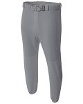 Alpha Broder N6195 Adult Double Play Polyester Baseball Pant With Elastic Waist And Belt Loops