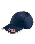 Alpha Broder NT102 6-Panel Mid-Profile Cap With Usa Embroidery