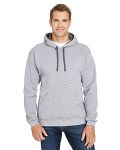 Alpha Broder SF77R Adult 7.2 Oz. Sofspun® Striped Hooded Sweatshirt