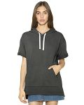Alpha Broder TF424W Unisex French Terry Garment-Dyed Kangaroo Pocket Short-Sleeve Hooded Sweatshirt