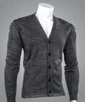 Cobmex 4005 Cobmex V-Neck Long Sleeve Button Front Cardigan with Hemmed Waistband