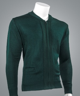 Cobmex 4010 Cobmex Crew Neck Long Sleeve Zip Front Cardigan with Pockets. Ribbed Waistband and Cuffs