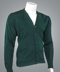 Cobmex 4015 Cobmex V-Neck Long Sleeve Button Front Cardigan with Pockets. Ribbed Waistband and Cuffs