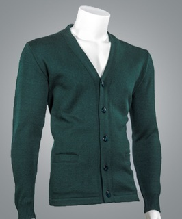 Cobmex 4018 Cobmex V-Neck Long Sleeve Button Front Cardigan with Pockets. Hemmed Waistband