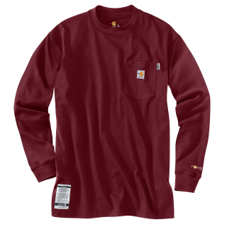 Carhartt 100235 100235 Men's Flame-Resistant Force Cotton Long Sleeve T Shirt