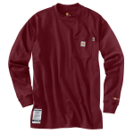 Carhartt 100235 100235 Men's Flame-Resistant Force Cotton Long Sleeve T Shirt