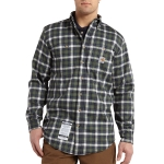 Carhartt 101028 Men's Flame-Resistant Classic Plaid Shirt