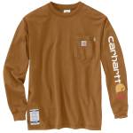 Carhartt 101153 Men's Flame-Resistant Force Cotton Graphic Long Sleeve T Shirt