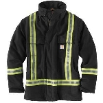 Carhartt 101694 Men's HV Striped Duck Traditional Coat