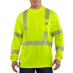 Carhartt FRK003 Men's Flame-Resistant High Vis Long Sleeve T Shirt