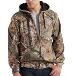 Carhartt K289 Men's Midweight Camo Hooded Zip Front Sweatshirt