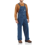 Carhartt R07 Men's Washed Denim Bib Overalls