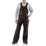 Carhartt R27 Men's Quilt Lined Sandstone Bib Overalls