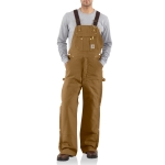 Carhartt R41 Men's Quilt Lined Zip To Thigh Bib Overalls