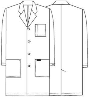 "Cherokee Uniforms 1346AB 40"" Unisex Lab Coat"