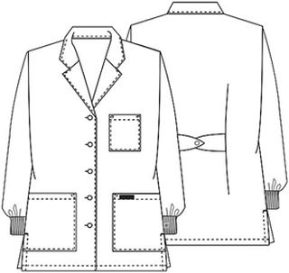 "Cherokee Uniforms 1362AB 32"" Lab Coat"