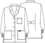 "Cherokee Uniforms 1362AB 32"" Lab Coat"