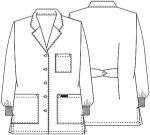 "Cherokee Uniforms 1362A 32"" Lab Coat"
