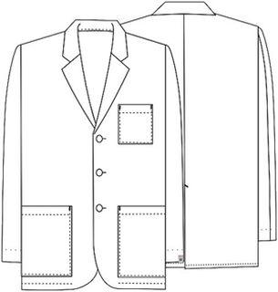 """Cherokee Uniforms 1389AB 31"""" Men's Consultation Lab Coat"""