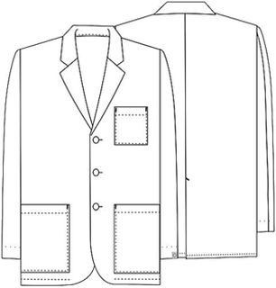 "Cherokee Uniforms 1389A 31"" Men's Consultation Lab Coat"